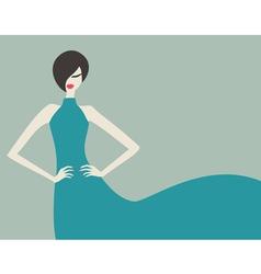 retro fashion model vector image