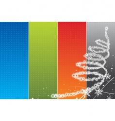 Christmas rainbow background vector image
