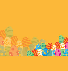flat of easter theme backgrounds vector image