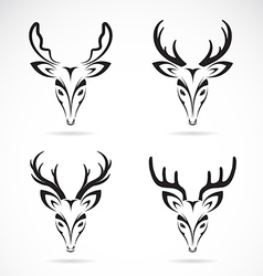 group of deer head vector image vector image