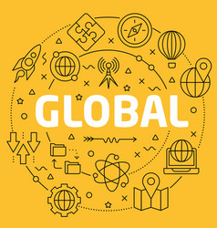 linear global vector image