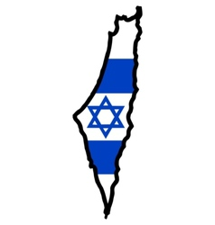 Map in colors of Israel vector image