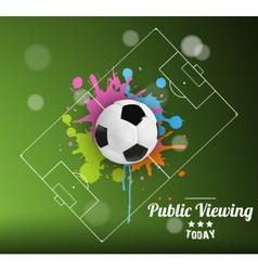 Public Viewing vector image vector image