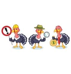 Turkey Mascot with money vector image vector image