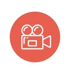 Video camera thin line icon vector image
