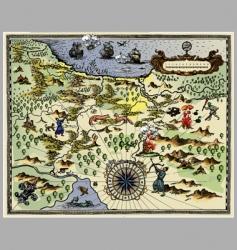Antique map vector