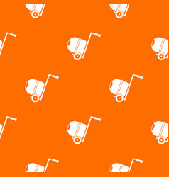concrete mixer pattern seamless vector image vector image