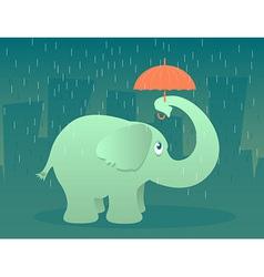 Elephant with Umbrella vector image