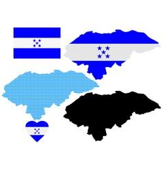 map of Honduras vector image