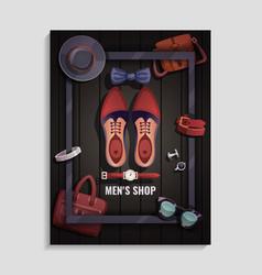 men accessories poster vector image