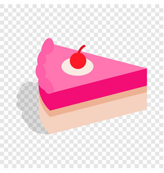 piece of cake isometric icon vector image vector image