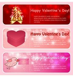 Valentine horizontal banners vector image
