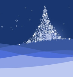 Xmas banner christmas tree vector image vector image