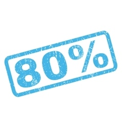 80 Percent Rubber Stamp vector image