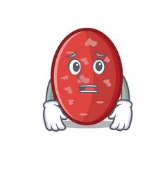 Afraid salami mascot cartoon style vector