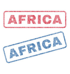 africa textile stamps vector image