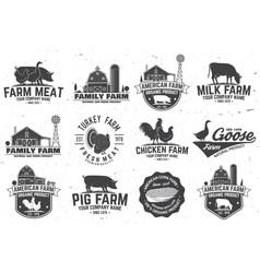 American farm badge or label vector