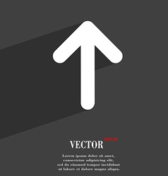 Arrow up This side up icon symbol Flat modern web vector