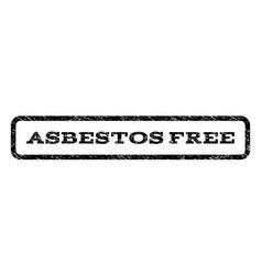 Asbestos free watermark stamp vector