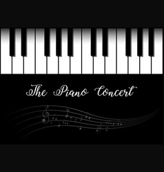Background design with piano vector