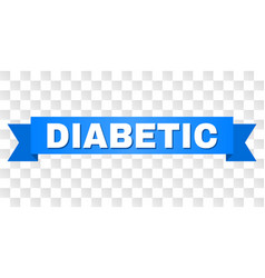 Blue tape with diabetic title vector