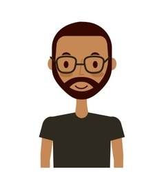 cartoon young man icon vector image