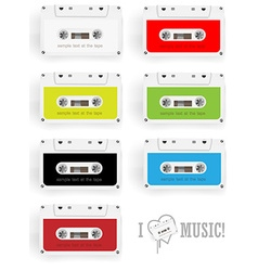Cassette design set vector