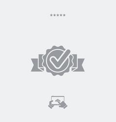 checkmark rosette flat icon vector image