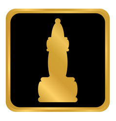 chess elephant icon vector image