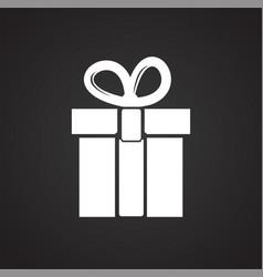 Christmas gift on black background vector