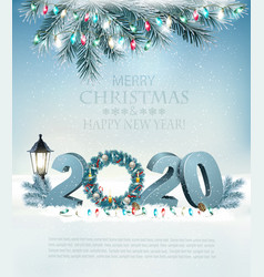 christmas holiday background background with 2020 vector image