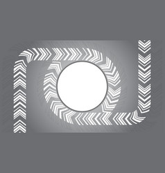 circle round arrow on grey background vector image