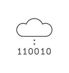 cloud computing line outline icon vector image