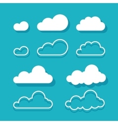 Clouds isolated on blue sky background vector