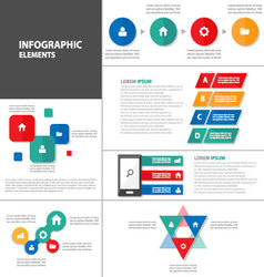 Colorful Infographic elements presentation layout vector