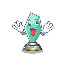 Crazy acrylic trophy stored in cartoon drawer vector