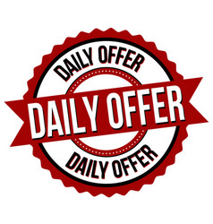 daily offer label or sticker vector image