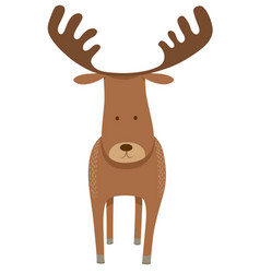 Deer or moose cartoon animal character vector