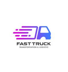 delivery services logo design courier logo design vector image
