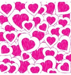 doodle hearts vector image