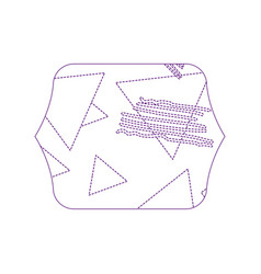 Dotty shape quadrate with geometric figure stye vector