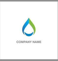 Droplet water logo vector