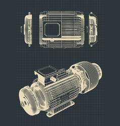 Eectric motor drawings vector
