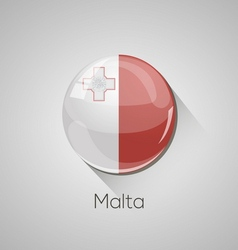 European flags set - Malta vector image