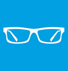 Eye glasses icon white vector