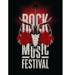 Festival rock music vector