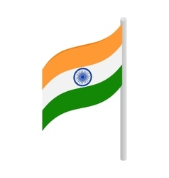 Flag of India icon isometric 3d style vector image