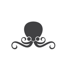 grey octopus flat style cartoon vector image