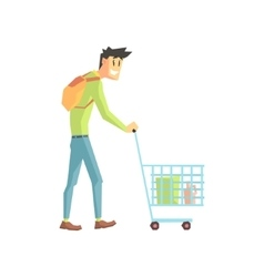 Guy Doing Grocery Shopping vector