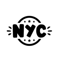 hand drawn nyc vector image